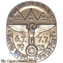 Spende abzeichen Tag der NSDAP Kreis Gross Frankfurt 6.7. 7.7. 1935
