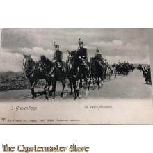 Prent briefkaart mobilisatie 1914 De Veld-Artillerie 's-Gravenhage