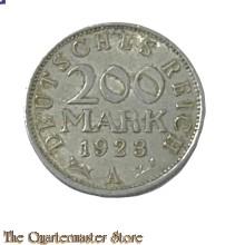 Muntze  200 Mark Deutsches Reich 1923 Weimar Republiek)