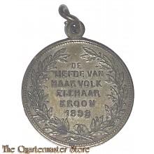 Medaille inhuldiging kon Wilhelmina 1898