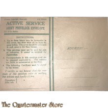 WO2 britse dienstenveloppe (WW2 Active Service Army Privilege Envelope)