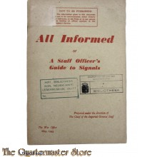Booklet All informed or a Staff's Officers Guide to Signals 1943