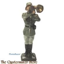 Wehrmacht schuif trompet muzikant Lineol (German musician slide trumpet WW2)