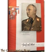 Maandblad Vreugde en Arbeid 1942, Nationaal-socialistisch tijdschrift van de Reichsorganisationsleiter der NSDAP Dr. Robert Ley (Freude und Arbeit)