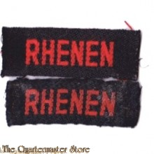 Straatnamen Rhenen  (Regiment Veld Artillerie)