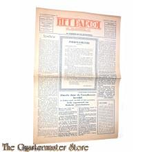 Krant , Het Parool 5e jrg no. 79 , vrijdag 6 April 1945 Almelo door de Canadeezen bevrijd