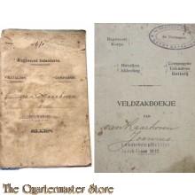 Oorlogszakboekje met Veldzakboekje 10e Infanterie Brigade 6e compagnie Depot battalion