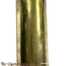 Kartusche kanon  WW1 7,7 cm Trench art (woman)