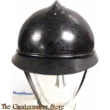 Proefmodel voor een donkerblauwe stalen gevechtshelm , Model 1915 Casque Adrian, t.b.v. Nederlands Leger
