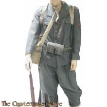Italiaanse jas en broek manschappen Alpini 1940/43 (Italian WW2 EM tunic and breeches mountaintroops)