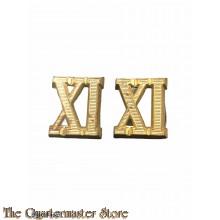 WH schulterklappen Offizier ziffern set Wehrkreis XI  (WH shoulderboard numerals set Wehrkreis XI for officers)