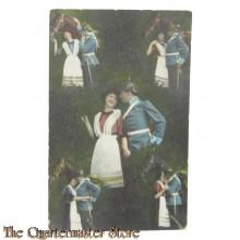 Postkarte WK1 Wahre die Liebe (Postcard WW1 lovers)