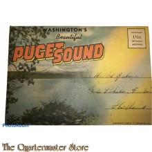 Map of postcards Washington 1940 Puget Sound