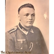 Large Studio photo Wehrmacht Uffz with added IC 2nd class ribbon