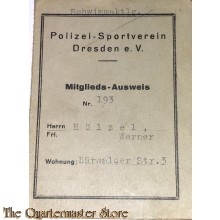 Mittglieds-ausweiss Polizei Sport Verein Dresden e.V.
