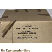 Boxed 10 Large first aid dressing US Army Carlisle model