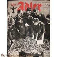 Zeitschrift Der Adler heft 7, 28 marz 1944  (Magazine Der Adler no 7, 28 marz 1944)