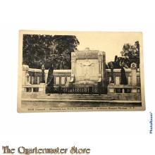 Postcard 1914-18 Ham (Somme) Monument sur Morte 4 oct 1925