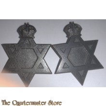 Collar badges Australian Army Chaplains Department (Jewish)  1930-1945