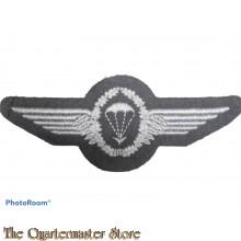 Bundeswehr Fallschirmspringerabzeichen BW silber auf grau