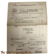 Rekening 1947 TM Troependetachement  Batavia