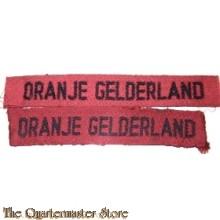 Straatnamen Regiment Infanterie Oranje Gelderland