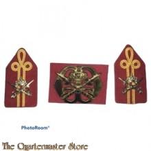 Baret embleem en kraag Koninklijke Militaire School KMS (Cap badge and collar  Military school)