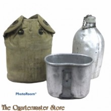 Veldfles M1910 met beker en cup (Canteen M1910 with cover and cup)