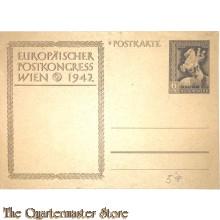 Postkarte , Europaisches Postkongress Wien 1942