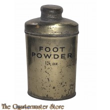 Goudkleurig Blik voetpoeder 1 3/4 Oz.  (Goldcoloured 1 3/4 Oz. Tin footpowder)