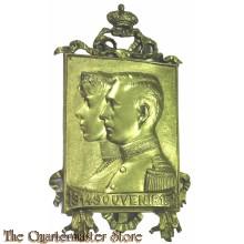 Belgium - Souvenir 1914-1918 België Koninklijk paar gedekt met kroon en banderol