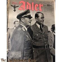 Zeitschrift Der Adler heft 21 12 okt 1943 (Magazine Der Adler no 21, 12 oct 1943)