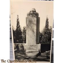 Prent briefkaart 1940 Mausoleum , Grebbe , Rhenen