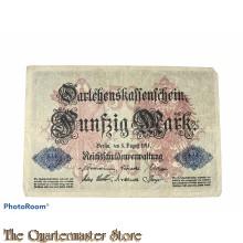 Darlehnkassenschein 50 (Funfzig) Mark 1914
