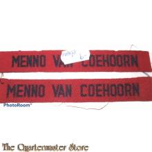 Straatnamen Menno van Coehoorn  (Regiment Infanterie)
