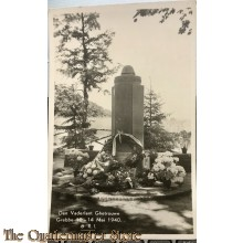 Prent briefkaart 1940 Den Vaderland Ghetrouwe , Grebbe 10 - 14 mei 8 RI mei 1940 (monument)