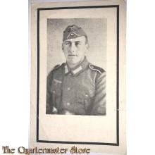 In Memoriam Karte/Death notice gefreiter in einem Grenadier Regt. Sudfront