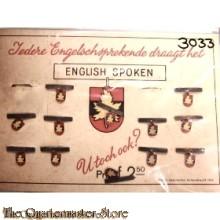 "Ned Canada tolk speldje 1945 ""English Spoken"""