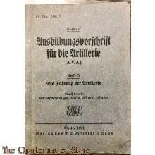 Ausbildungsvorschrift der Artillerie heft 5 1941