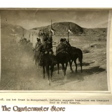 Press photo , front of Mesopotamia, Indian sappers convoy Jebel Hamarin