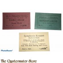 Zutrittskarte Konzerte Beethoven und Henny Wolf 1917