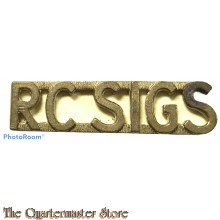 Shoulder title Royal Canadian Signals (RC Sigs) brass