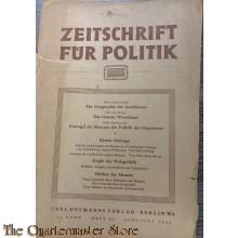 zeitschrift fur politiek berlin 1941