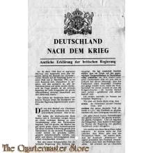 Flugblatt G.29 DEUTSCHLAND nach dem Krieg