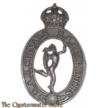 Cap badge  SA Corps of Signals / Sein Korps  WWII