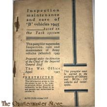Manual Inspection maintenance and care of 'B''vehicles 1945 (Voorschift inspectie en onderhoud voertuigen)