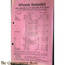 Officieele bonnenlijst 3e week 7e periode 24-30 juni 1945 District XIV Amersfoort