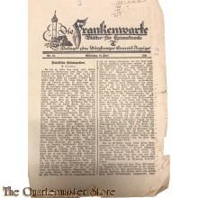 Die Frankenwarte nr 24 Wurzburg 18 juni1931 (Beilage zum Wurzburger General Anzeiger)