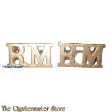 Shoulder Titles Royal Marines/ RM (brass)