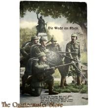 Militair Postkarte Die Wacht am Rhein , So lang ein Tropfen blut....